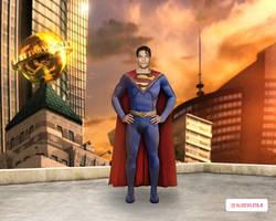 D.J. Cotrona as Superman (background)