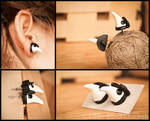 Plague Doctors polymer clay earrings