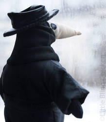 Plague doctor stuffed toy