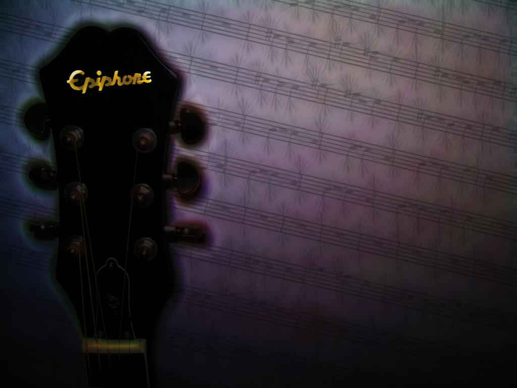 While My Guitar Gently Glows by Cerebral-Delirium