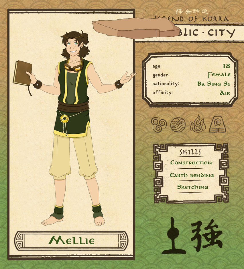 Republic City: Mellie (Updated) by Psyoren