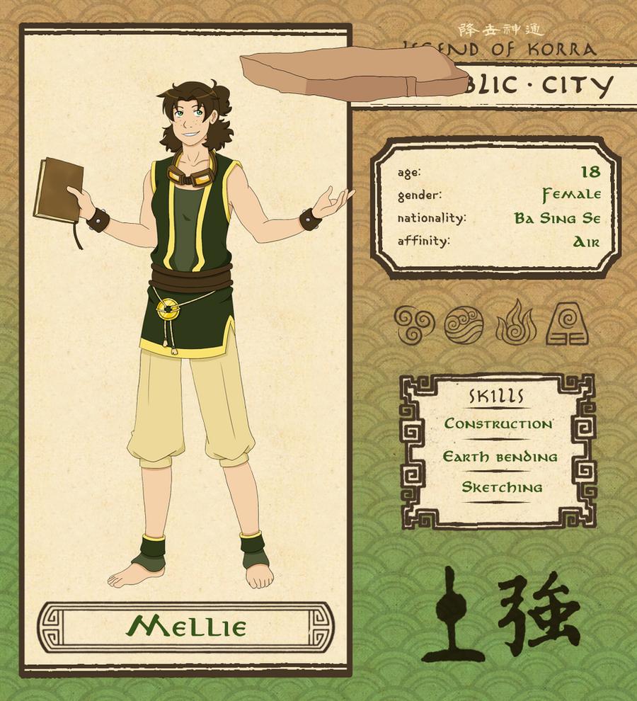 Republic City: Mellie (Updated) by Psyoren