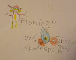 Flamingo and Grackle! by kindrielle