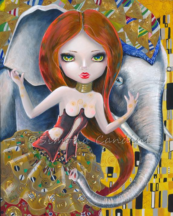 Maiden And Elephant by simonacandini