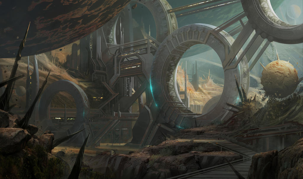 Old planet colony by Stefana-Tserk on DeviantArt