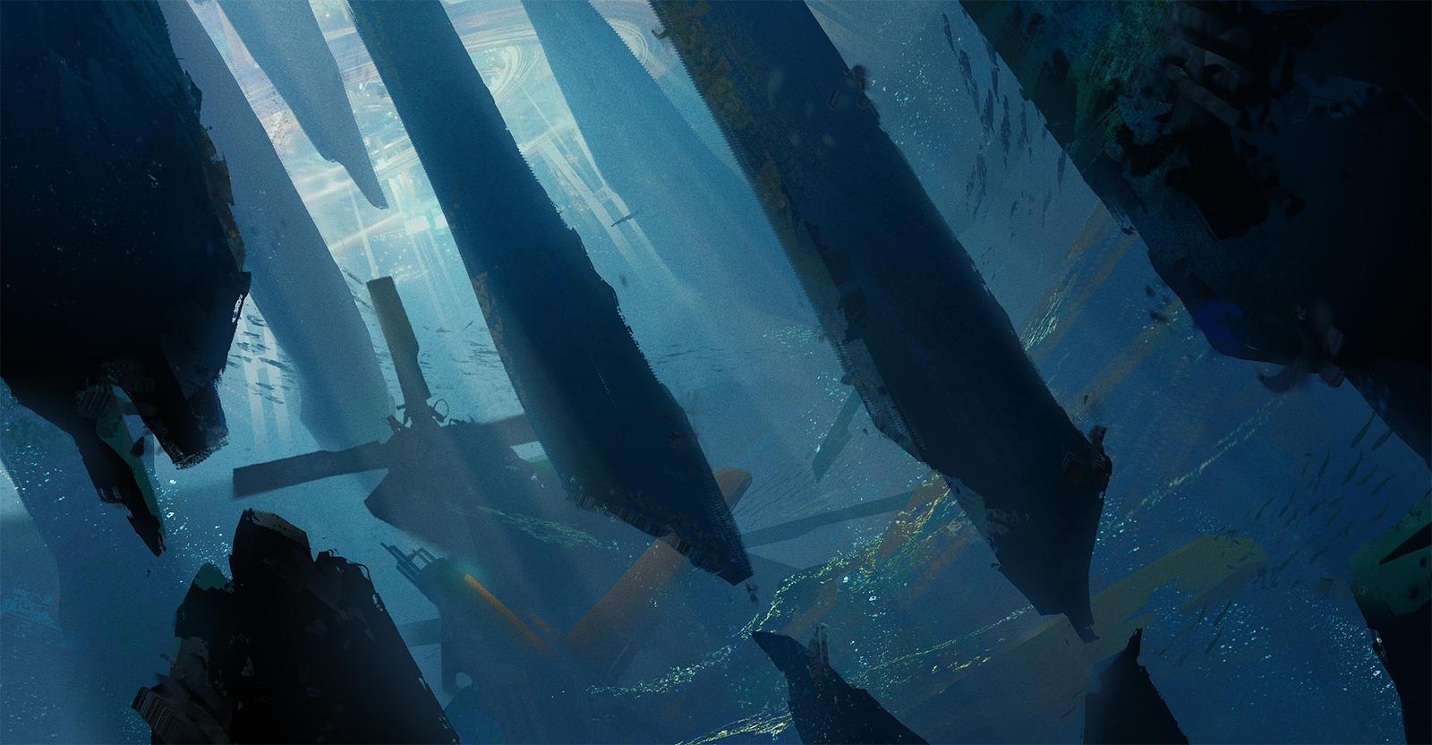 Underwater sketch by Stefana-Tserk