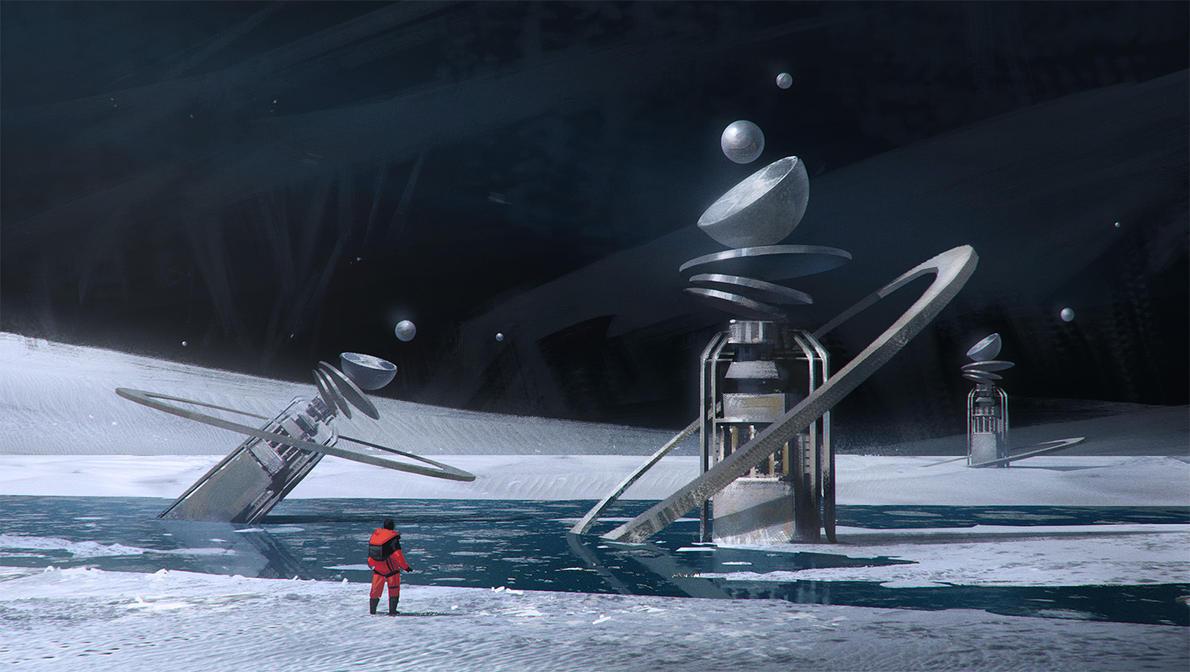 Ice moon sketch by Stefana-Tserk