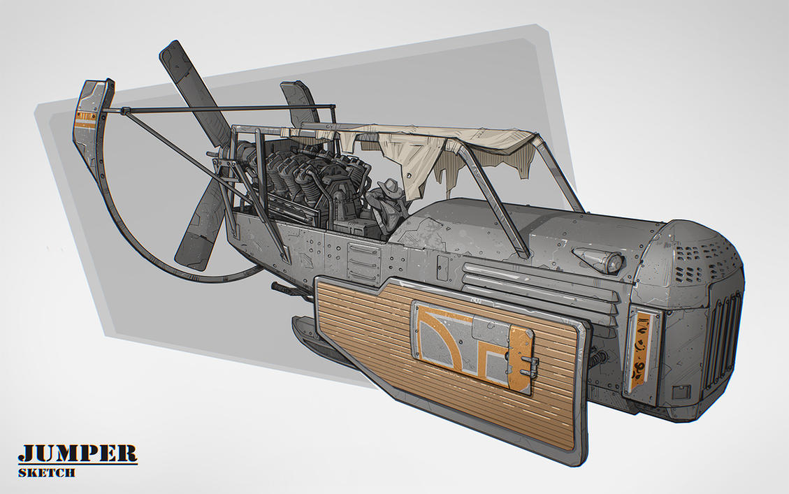 Vehicle sketch by Stefana-Tserk