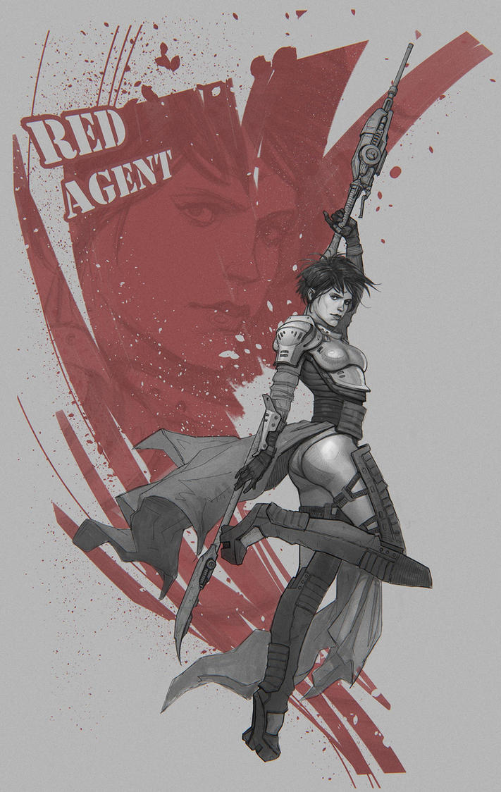 Red Agent sketch by Stefana-Tserk