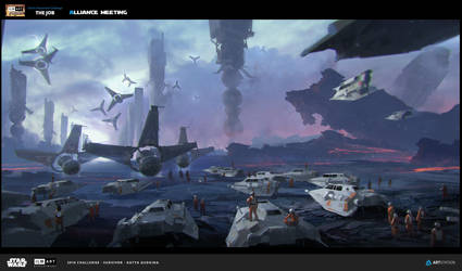 Art submitted for ILM challenge on Artstation