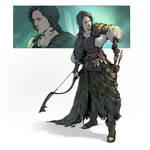 Gitanna - Archer character art.