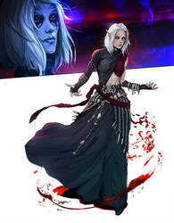 Seri - Blood mage character art. by katya-gudkina