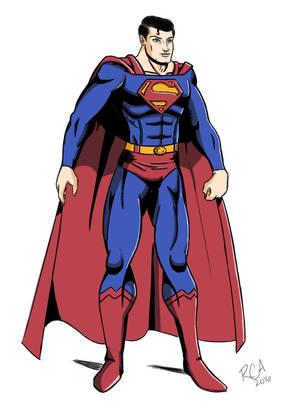 Superman drawing (color) by robertamaya