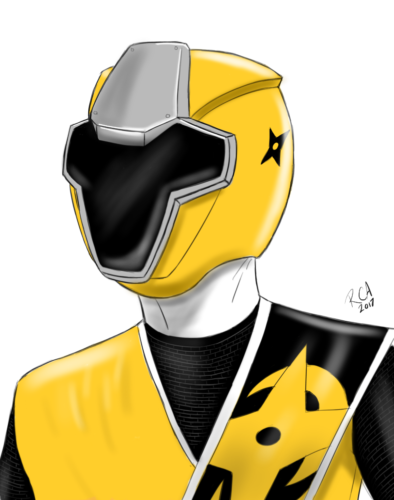 ninja steel yellow ranger by robertamaya on deviantart. Black Bedroom Furniture Sets. Home Design Ideas