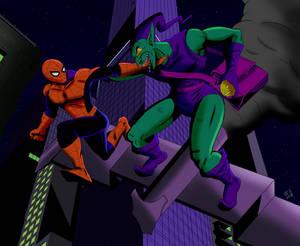 Spider-Man Vs. The Green Goblin by robertamaya