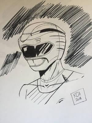 Red Wild Force Ranger drawing by robertamaya