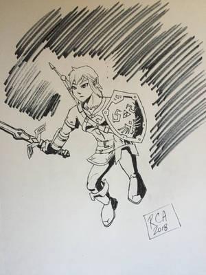 Link drawing by robertamaya