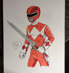 Mighty Morphin Red Ranger Bristol drawing by robertamaya