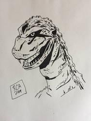 Godzilla drawing by robertamaya