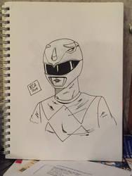 Mighty Morphin Blue Ranger sketch  by robertamaya