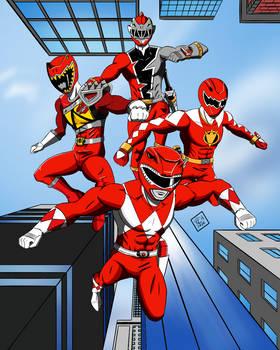 The Tyrannosaurus Red Rangers