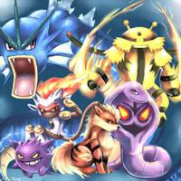 Pokemon Team Commission by Sukesha-Ray