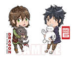 Chibi Hiccup and Hiro