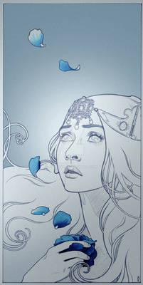 Commission: Blue rose