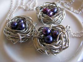 Three eggs nests
