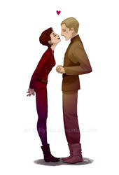 Odo + Kira: Mean what you say by lily-fox