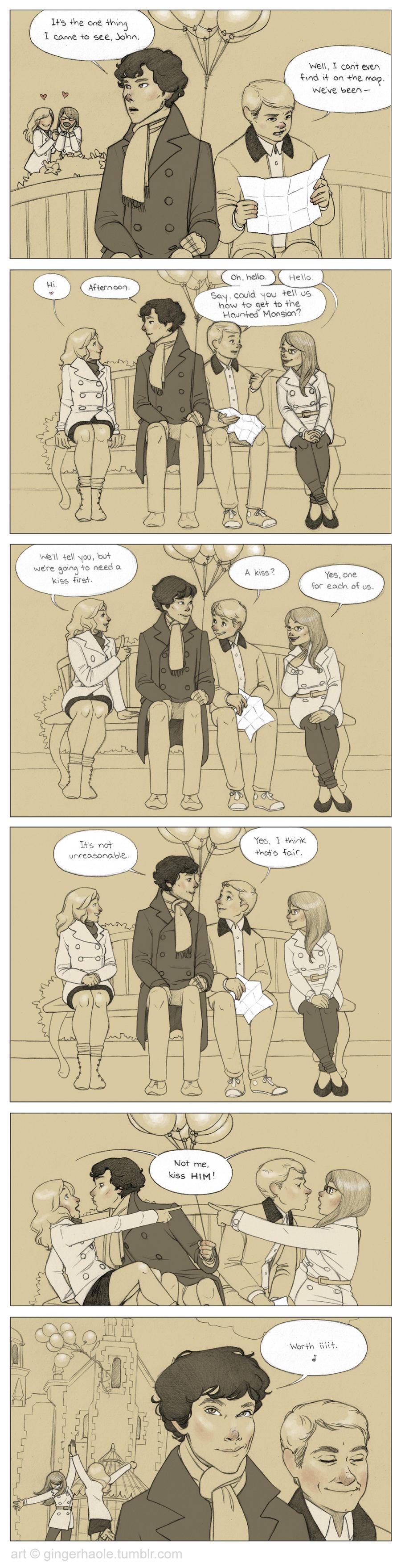 Sherlock + John's Very Silly Disneyworld Adventure by lily-fox