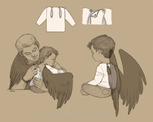 Wing-friendly baby clothes