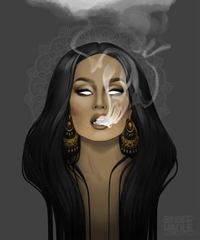 Rising like the smoke