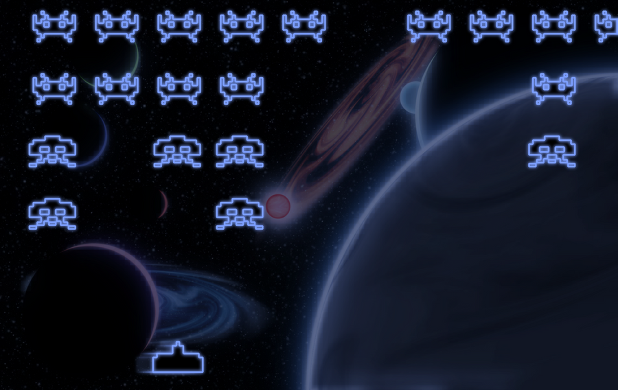 Space Invaders Wallpaper by Faybro