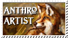 Anthro Artist Stamp by FafnirMcCloud