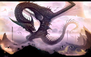 Dragon beast of Khalazas by VampirePrincess007
