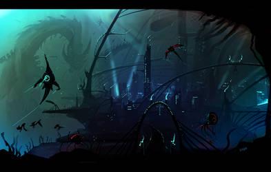 Underwater city by VampirePrincess007