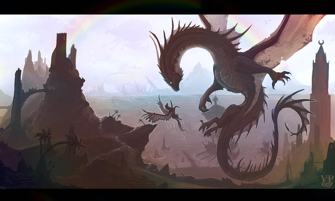 Fantasy world by VampirePrincess007 on DeviantArt for Fantasy World Art Dragon  54lyp