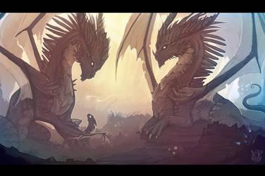 Dragon Family by VampirePrincess007