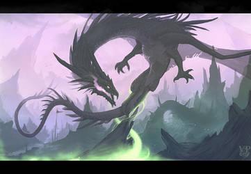 Dark dragon by VampirePrincess007