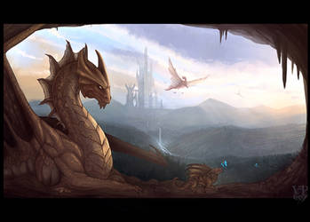 Brass dragon by VampirePrincess007