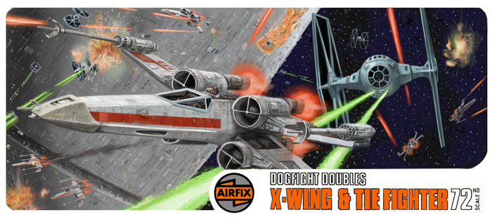 Airfix Dogfight Double X Wing and Tie Fighter