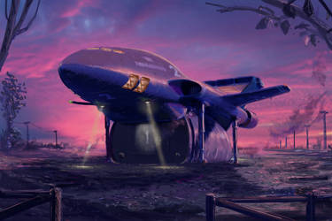 Thunderbird 2 at sunrise by matteline67