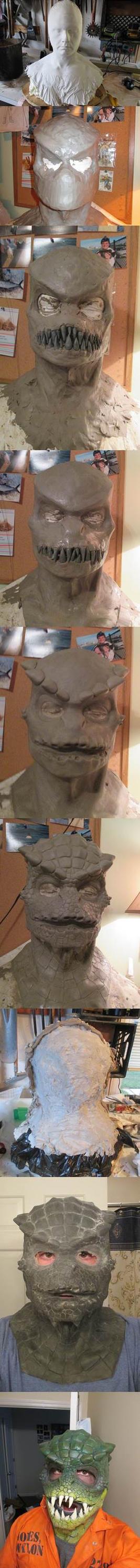 Making the Killer Croc Mask (progression) by MisterAlterEgo