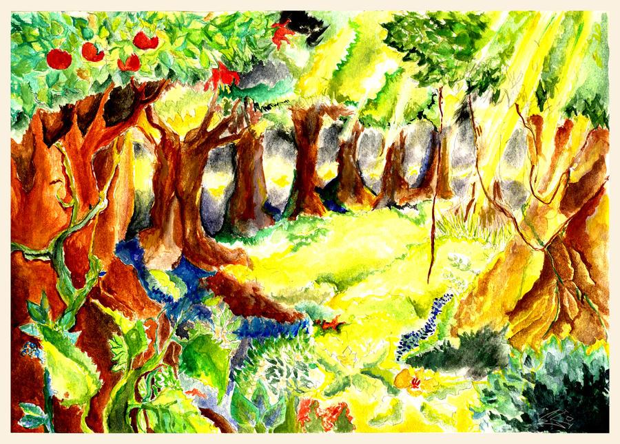 fantasy forest by ekoyagami