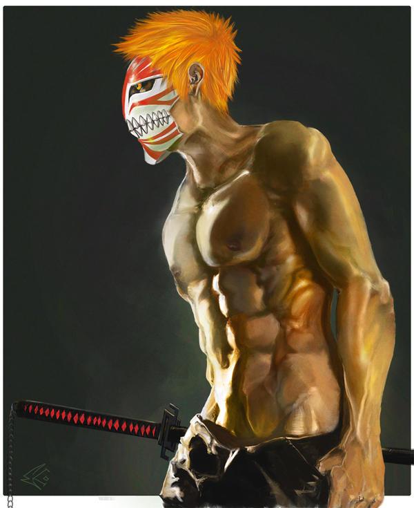 Hollow Mask Ichigo by ekoyagami