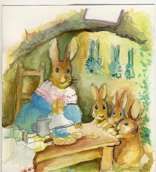 mother rabbit kitchen by ekoyagami