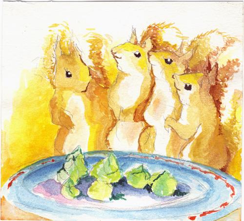 Four happy squirrels by ekoyagami