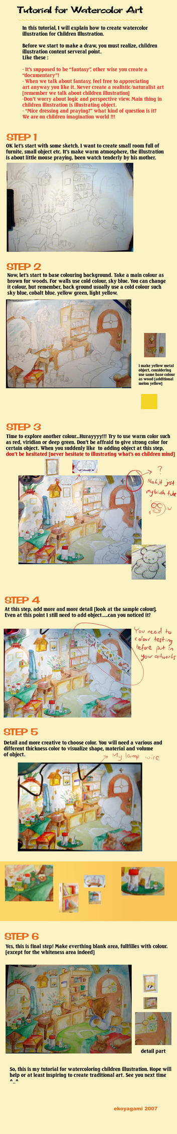 tutorial for watercolor by ekoyagami