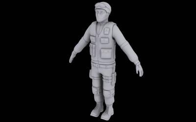 Counter Terrorist Clay